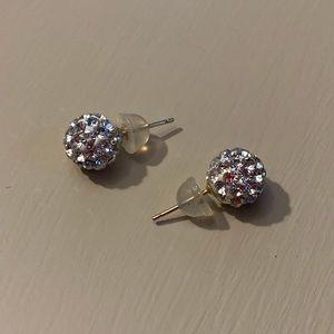 Crystal earrings for pierced ears